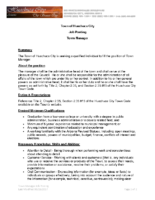 Town of Huachuca City – Manager – Posting